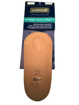 Meltonian 3/4 Orthotic Arch Support Leather Shoe Insoles Ins